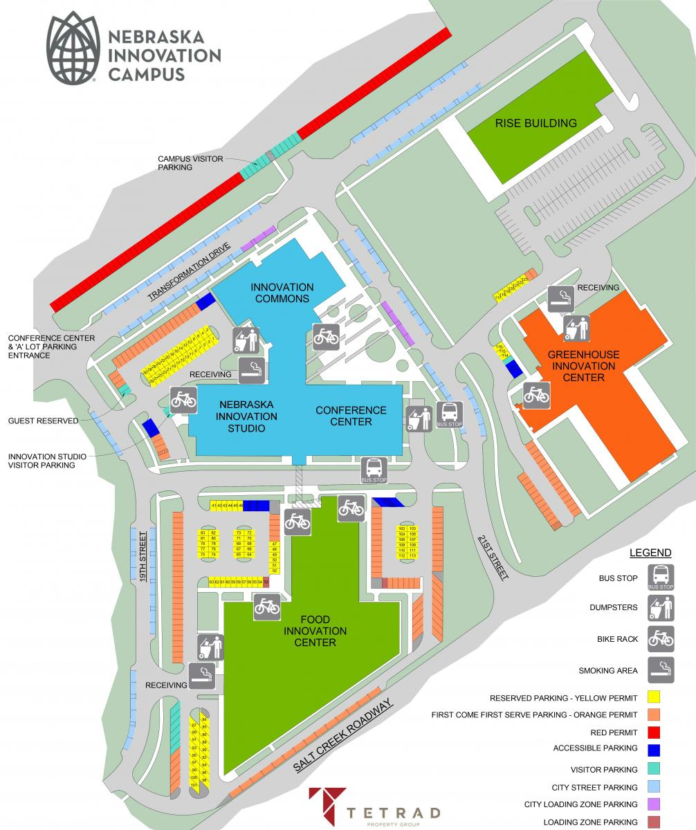 Unl Parking Map Parking at NIC | Nebraska Innovation Campus