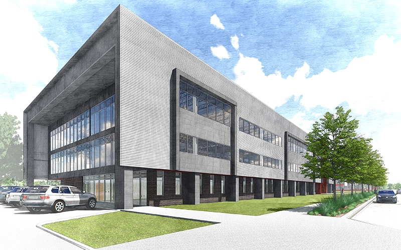 Rendering of east view of building, SDL3