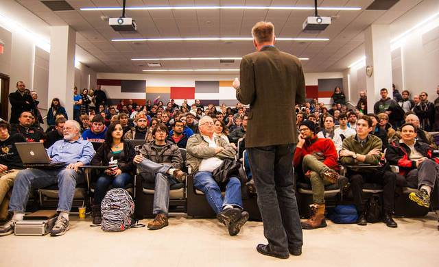 Interest in UNL Maker Club's first meeting on Feb. 5 was so high they had to move it to a larger lecture hall to fit everyone. More than 200 people showed up.