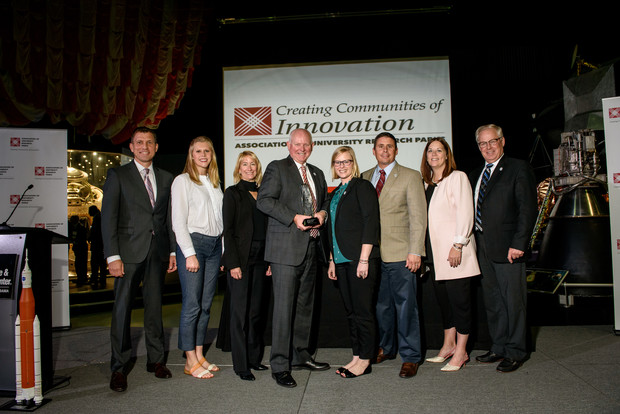 Nebraska Innovation Campus receives the Emerging Research Park Award during the annual conference of the Association of University Research Parks on Oct. 11.