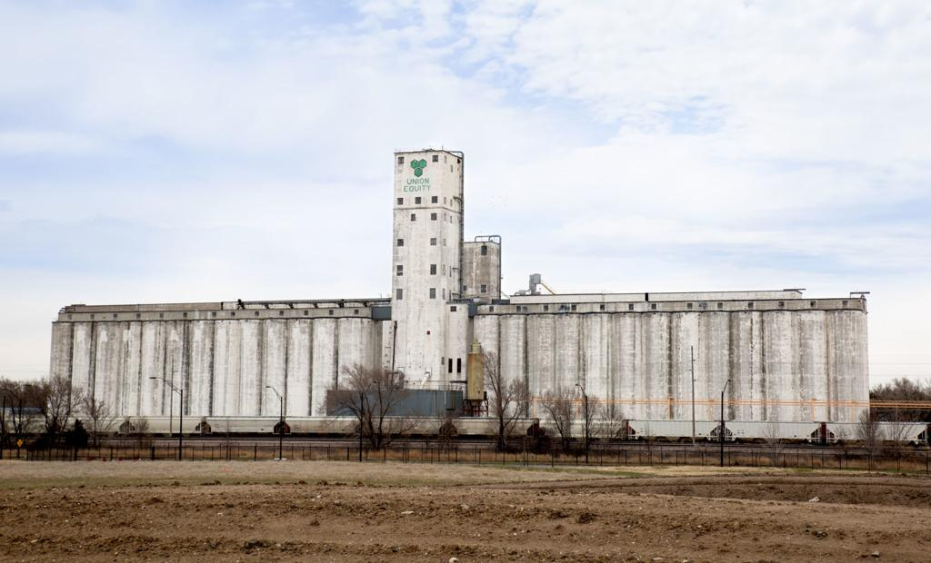 The first project in Spreetail's new Elevate initiative will be to cover this grain elevator along Salt Creek Roadway near North 27th Street with 20-foot-by-60-foot billboard banners featuring submitted designs. The banners will be hung Aug. 31.