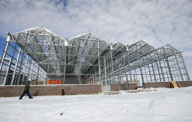 Construction continues on the Greenhouse Innovation Center at Nebraska Innovation Campus on Tuesday, when UNL officials announced three new campus tenants.