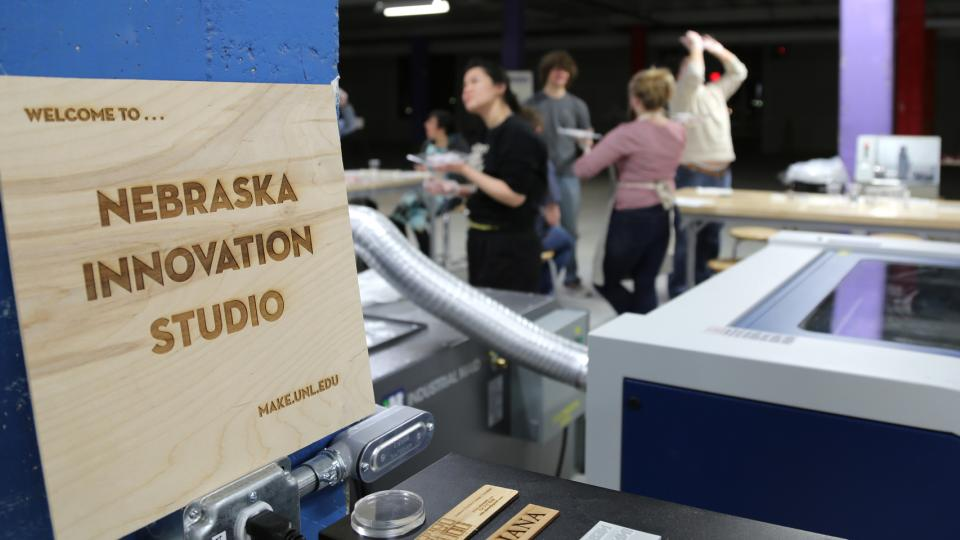 """Making for Innovation"" is a unique, first-time course offered at Innovation Studio on Nebraska Innovation Campus. The course, which is designed to foster creativity, includes 23 students representing 10 different disciplines."