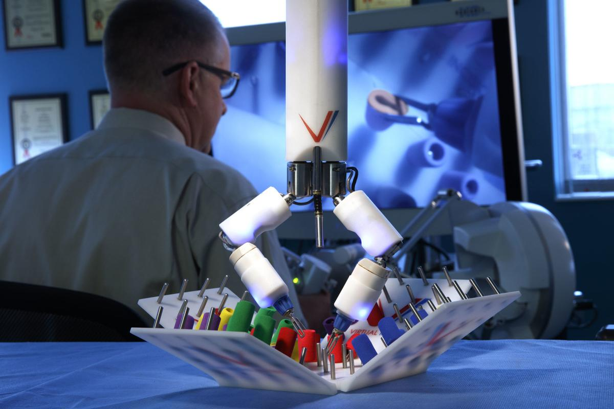 Virtual Incision, the UNL spinoff co-founded by professor Shane Farritor, continues work to develop surgical robots in the group's office and lab at Nebraska Innovation Campus.