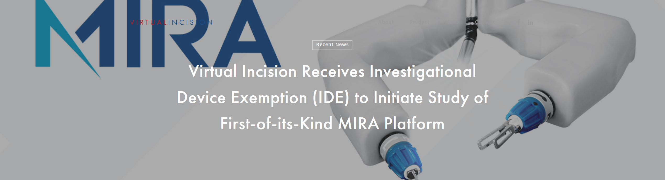 Virtual Incision Receives Investigational Device Exemption (IDE) to Initiate Study of First-of-its-Kind MIRA Platform