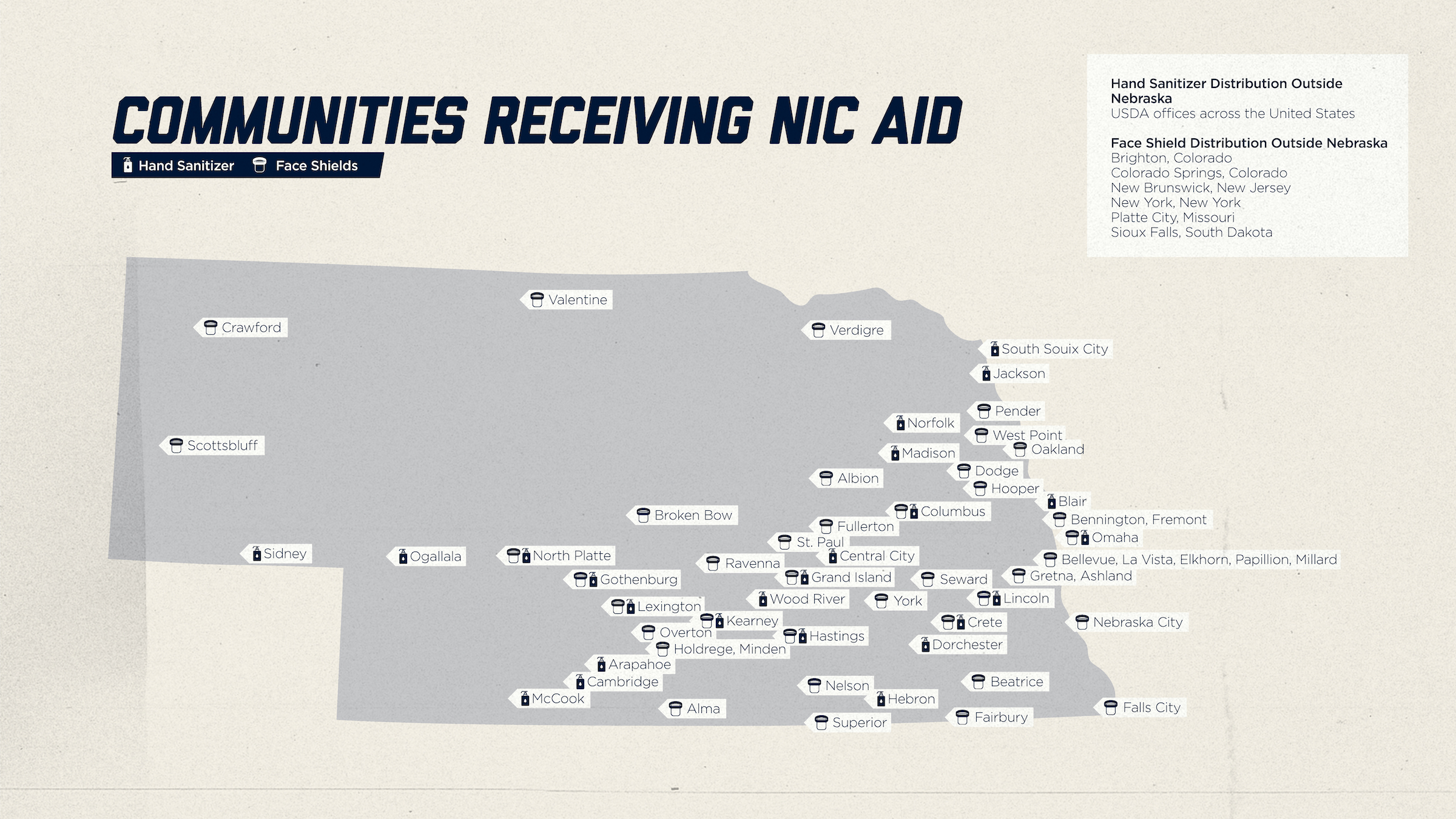 Communities Receiving NIC Aid Map